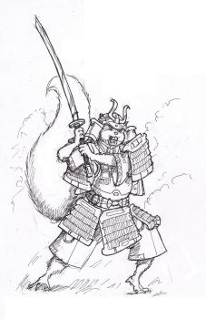 Samurai Squirrel by Samael1103