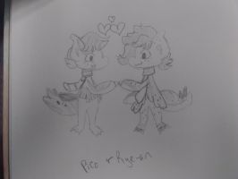 Pico and Rye-an Sketch by PonOfGriffia