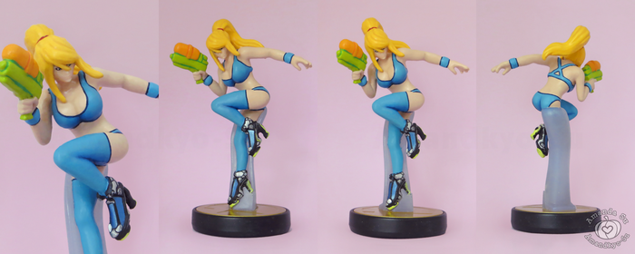 Samus Swimsuit Custom Amiibo by Amandkyo-Su
