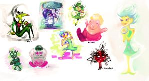 Inside Out - Lost characters and doodles by CaramelFrog