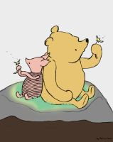 Pooh And Piglet Daily sketch #288 by GothicVampireFreak