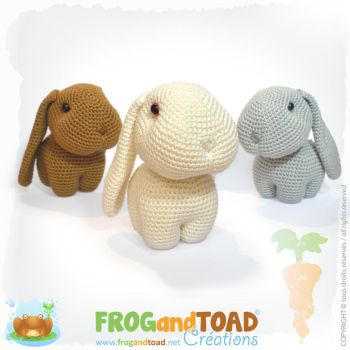 Happy, Hippy and Hoppy - Lapin Rabbit Amigurumi by FROG-and-TOAD