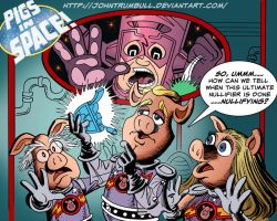 LIID 152: Pigs In Space Meet Galactus! by johntrumbull
