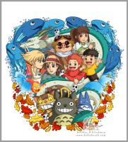 Studio Ghibli Tattoo Design by HeatherHitchman