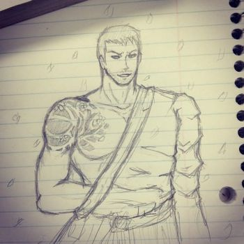 Samurai Chris Redfield by Sora-in-my-pants