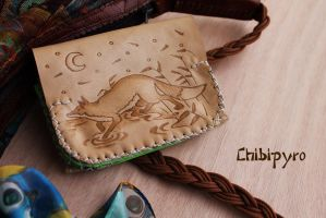 Leather Wallet Fox by ChibiPyro
