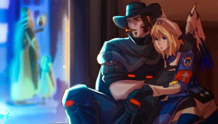 mccree and mercy by cometodaddycome