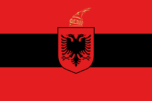 Alternate flags for Europe - Albania by Linumhortulanus