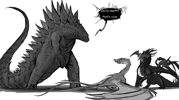 And in walked Godzilla by Tapwing