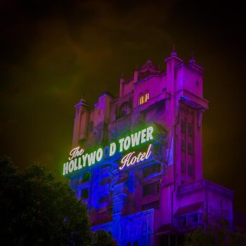 Tower of Terror Night Shot by Earth-Divine