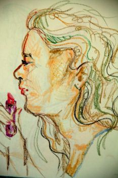 Woman with Lipstick by dharmavan