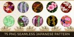 75 PNG Japanese Patterns (Flowers) by o-yome