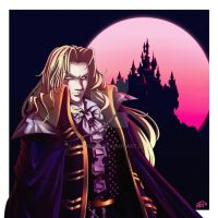 Commision of Alucard - Castlevania by leocirius