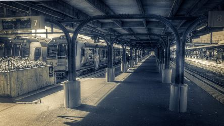 Perfectly Legal Railway Station Shot by lordlucan