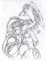 The Gullwings Pencils by arsenalgearxx