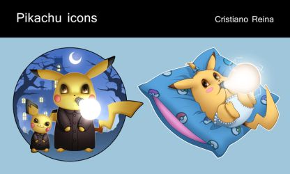 Pikachu icons by CristianoReina
