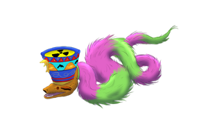 Radioactive furry boa (that worships dolphins) by Leorgathar