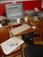 My not so clean workspace. by Paskaniska