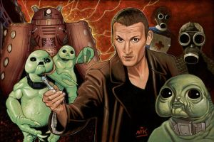 Christopher Eccleston Dr Who 9 by NIK-Nick