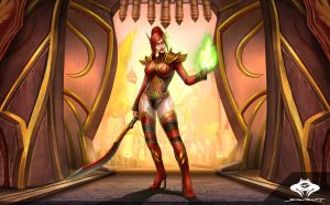 ...Commission: Blood Elf Warlock... by ShadowPriest