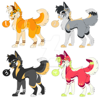 Feral Adopt Set One CLOSED by Flame-Expression