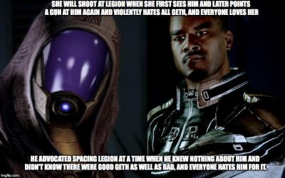 Example of Mass Effect Fandom Hypocrisy #4 by Spider-Bat700