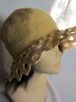 Sunshine Crochet Hat with Beautiful Ornament by MagicalString