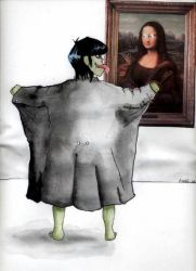 Murdoc Exposes Himself to Art by theancientofdays