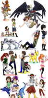 Digimon OCs 3 by glyfy