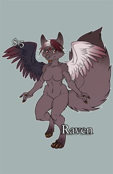 Raven Adoptable Vixnyn - Sold by lady-cybercat