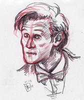 Matt Smith Sketch - Doctor Who by Girl-on-the-Moon