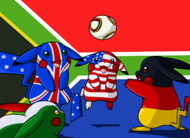 FIFA worldcup 2010 Pikas 8D by Sklavenbrause