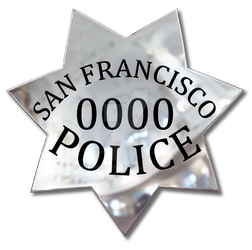 San Francisco Police Badge - Maya Render by tempest790