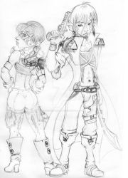 Sonus and Morgain Redesign Sketch by TheBlindProphetess