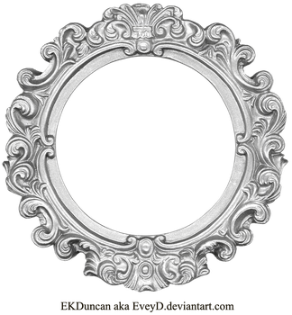 Vintage Silver Frame - Round by EveyD