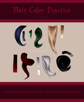 Hair Color Practice (low resolution) by TheLuciferArt