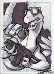 Dr. Dinosaur Sketchcard by stratosmacca