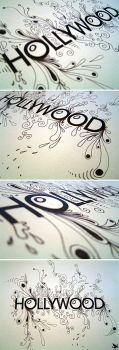 Hollywood Typography by sheld0n
