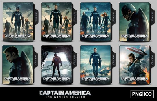 Captain America 2 (2014) Folder Icons by OnlyStyleMatters