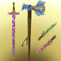 Crystal Weapon Set by HellmoonHV