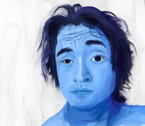 Self Portrait: Blue by cheesehound