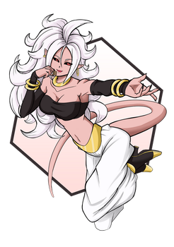 DBFZ Android 21 - Give me your chocolate treats! by mattwilson83