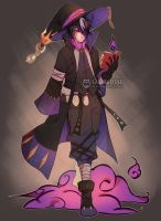 (CLOSED) 24H-HALLOWEEN ADOPT266 - Black mage by ilaBarattolo