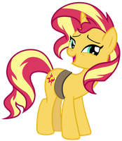 Cheerful Sunset Shimmer by FamousMari5