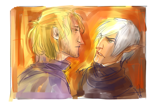 Fen and tranquil Anders by DammitFundus