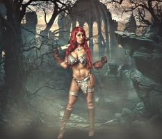 Red Sonja Grave by malcolmflowers