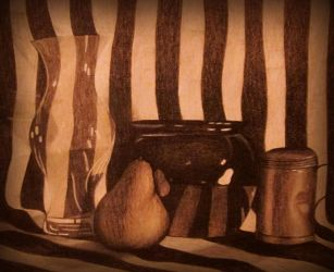 Glass Stripe Still Life by annadigiovanni