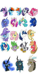 Pony heads 1 by himanuts
