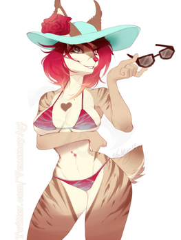 Cat in a sunhat by Vexstacy