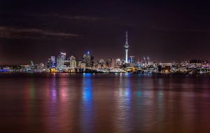 Auckland Nightscape by TarJakArt